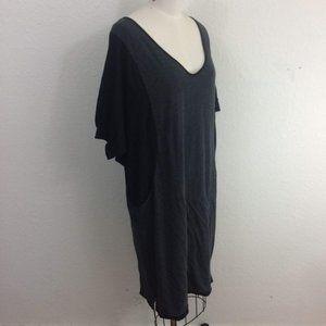 Standard James Perse Dress Gray Black